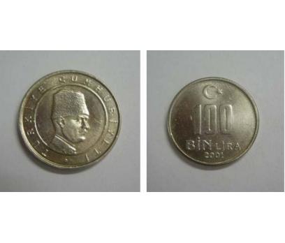 2001 BAKIR-NİKEL 100.000 LİRA ÇİL.