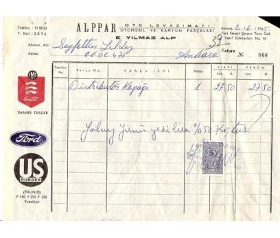 ALPPAR OTO LEVAZIMAT-ANKARA 1965 FATURA.