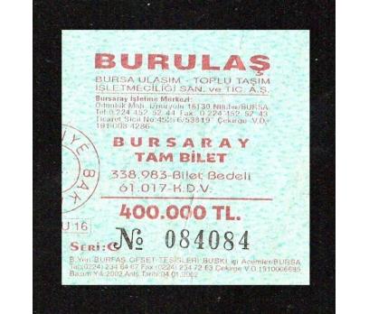 BURSA BURULTAŞ-OTOBÜS BİLETİ.
