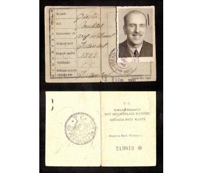 ESKİ SİGORTA SİCİL KARNESİ 1950