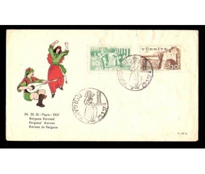 FDC-İLK GÜN -BERGAMA KERMESİ 1957 1