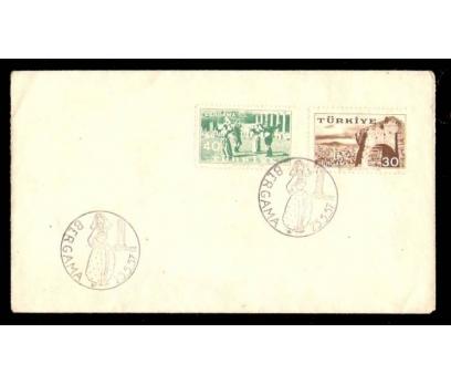 FDC-İLK GÜN - FDC-BERGAMA 1957