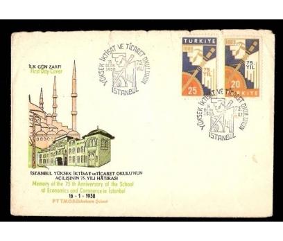 FDC-İLK GÜN ZARFI-1958 YILI