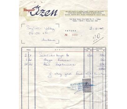 HAYATİ ÖZEN-ANKARA 1965 FATURA.