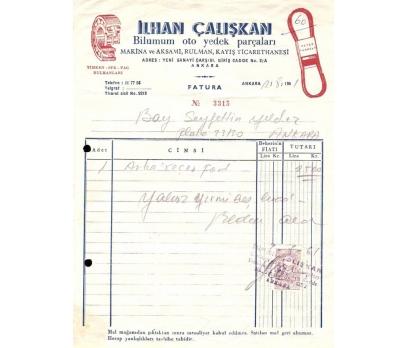 İLHAN ÇALIŞKAN-OTO-ANKARA 1961 FATURA.