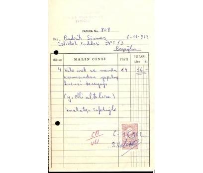 İSTELYO VAFİADİS.FATURA.1962