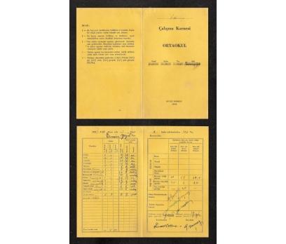 İZMİR-ÖDEMİŞ-ÇALIŞMA KARNESİ 1938-1939