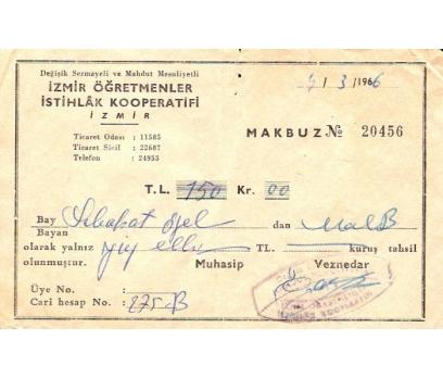 İZMİR ÖĞRETMENLER İSTİHLAK KOOPERATİFİ 1966