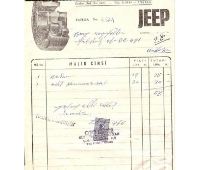 JEEP-ANKARA 1965 FATURA.