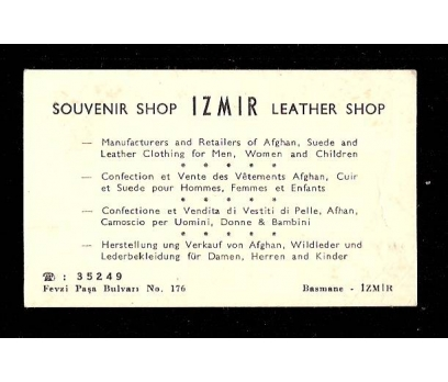 KARTVİZİT-SOUVENIR SHOP İZMİR LEATHER SHOP