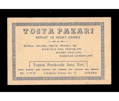 KARTVİZİT-TOSYA PAZARI-ANKARA