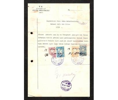 KAYSERİ İLİ KÜLTÜR DİREKTÜRLÜĞÜ 1937 YILI