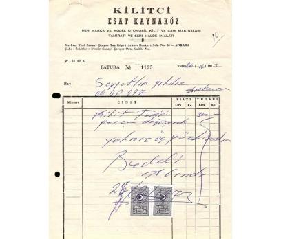 KİLİTÇİ-ESAT KAYNAKÖZ-ANKARA 1973 FATURA.
