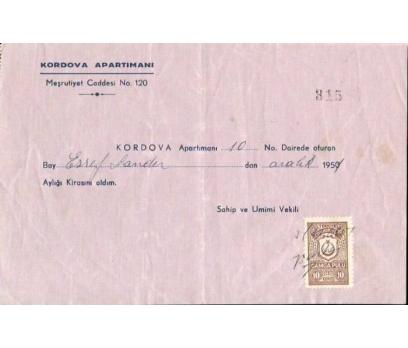 KORDOVA APARTMANI ANTETLİ EVRAK 1950