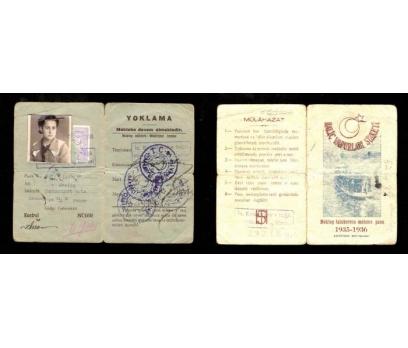 MEKTEP TALEBESİNE MAHSUS PASO 1935-1936 YILI