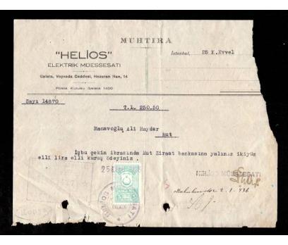 MUHTIRA-HELİOS ELEKTRİK MÜESSESATI 1936