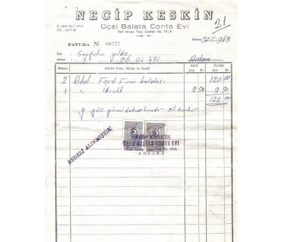 NECİP KESKİN-ANKARA 1967 FATURA.
