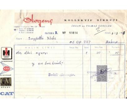 OTO GENÇ KOLL.ŞTİ.ANKARA 1968 FATURA.