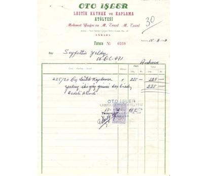 OTO İŞLER-ANKARA 1967 FATURA.