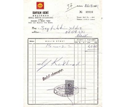 SHEEL SERVİS-ANKARA-KEÇİÖREN 1971 FATURA.