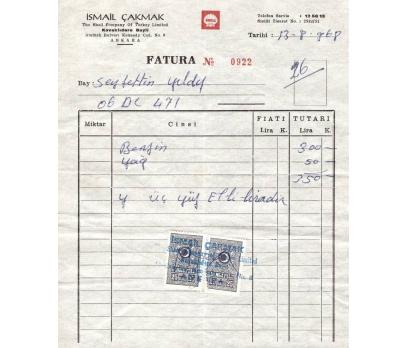 SHEEL SERVİSİ-ANKARA-1968 FATURA. 1