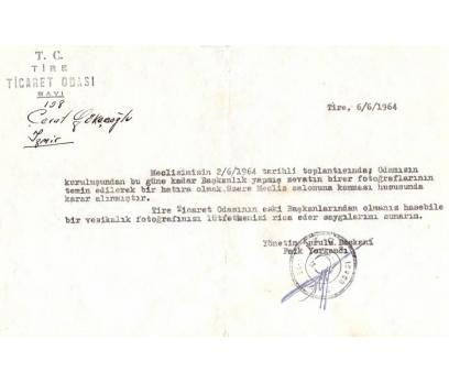 T.C. TİRE TİCARET ODASI 1964 İZMİR