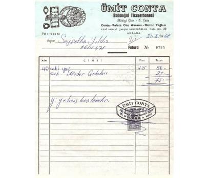 ÜMİT CONTA BABAOĞUL.-ANKARA 1968 FATURA.