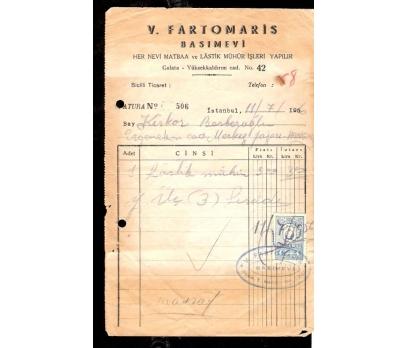 V.FARTOMARİS BASIMEVİ-FATURA 1