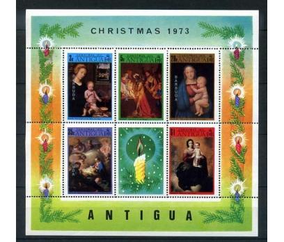 BARBUDA ** 1973 CHRISTMAS BLOK SÜPER (E-0214)