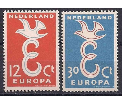 1958 Hollanda Europa Cept Damgasız**