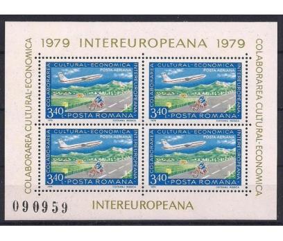 1979 Romanya Intereuropa Blok B157 Damgasız**