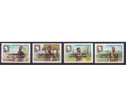 1980 Gana Stamp Expo Londra Damgasız**