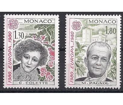 1980 Monako Europa Cept Ünlüler Damgasız**