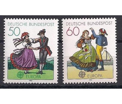 1981 Almanya Europa Cept Folklör Damgasız**