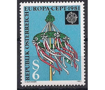 1981 Avusturya Europa Cept Folklör Damgasız**