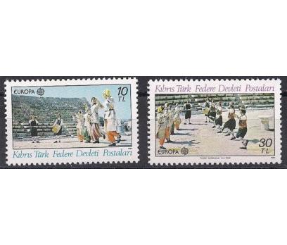 1981 Kıbrıs Europa Cept Folklör Damgasız**