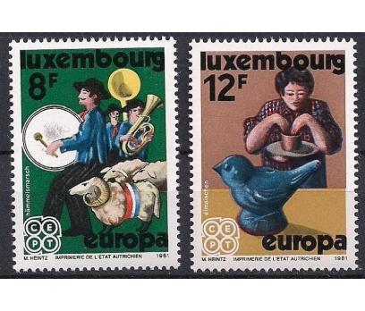 1981 Luksemburg Europa Cept Folklör Damgasız**
