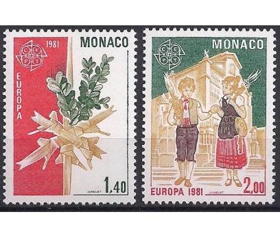 1981 Monako Europa Cept Folklör Damgasız**
