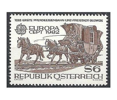 1982 Avusturya Europa Cept Tarih Damgasız**