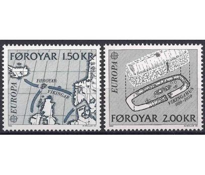 1982 Faroe Adaları Europa Cept Damgasız**