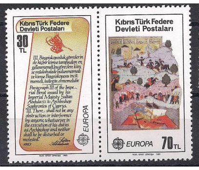 1982 Kıbrıs Europa Cept Tarih Damgasız**