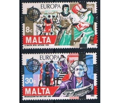 1982 Malta Europa Cept Tarih Damgasız**