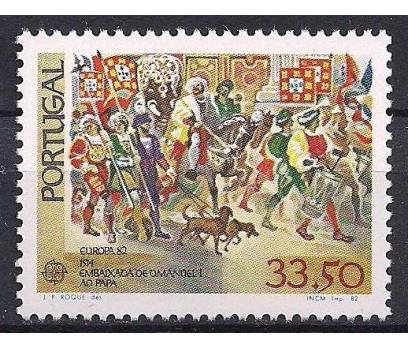 1982 Portekiz Europa Cept Tarih Damgasız**
