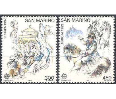 1982 San Marino Europa Cept Tarih Damgasız**