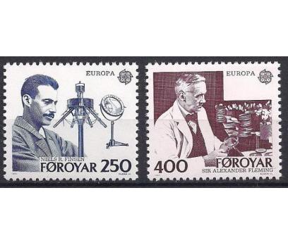 1983 Faroe Adaları Europa Cept İcatlar Damgasız**