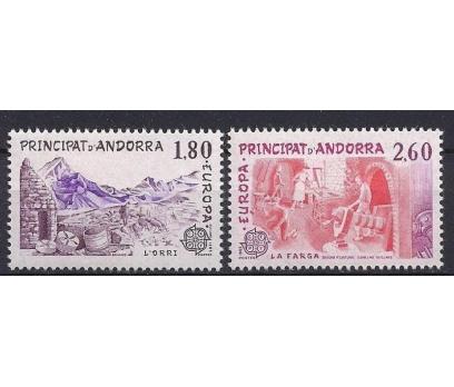 1983 Fransa Andorra Europa Cept Damgasız**
