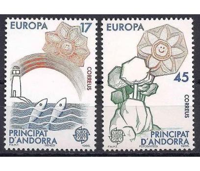 1986 İspanya Andorra Europa Cept Damgasız**
