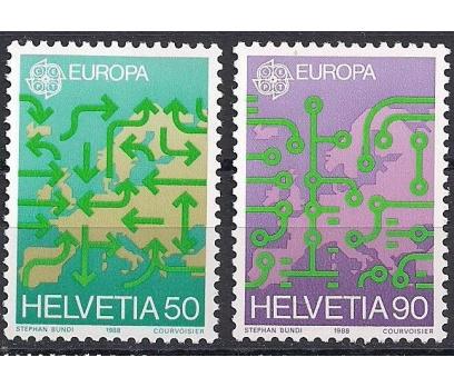 1988 İsviçre Europa Cept Ulaşım Damgasız**