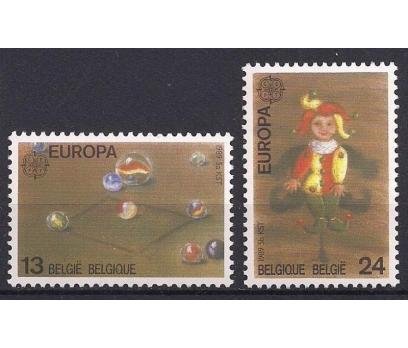1989 Belçika Europa Cept Çocuk Oyun Damgasız**