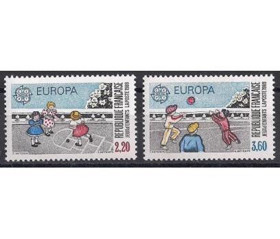 1989 Fransa Europa Cept Çocuk Oyunları Damgasız**